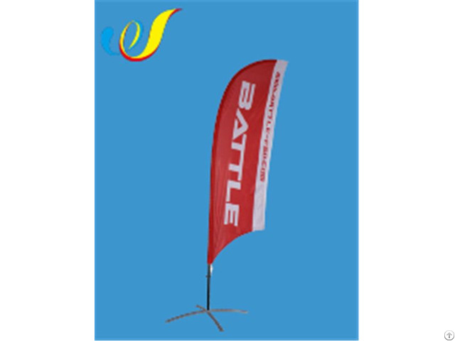 China High Quality Factory Price Display Flag Concave Feather Banners Manufacture