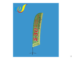 China Hot Selling Top Quality Display Flag Angled Feather Banners Wholesale