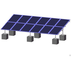 Aluminum Structure Ground Mounting Solar Bracket For Pv Panel Including Thin Film Modules