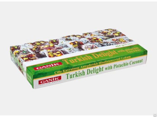 Double Roasted Turkish Delight With Pistachio Coconut 454 G