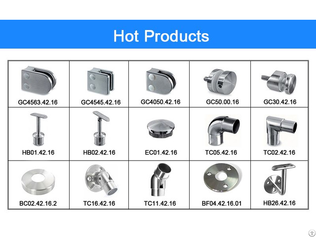 Stainless Steel Glass Clamp Handrail Fitting Balustrade Railing System