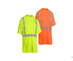 High Visibility Safety T Shirt With Reflective Tape Ansi107 Ht 002