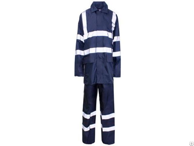 Hr 005 Navy Blue 190t Polyester Pvc Rainwear