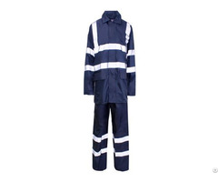 Hr 005 Navy Blue 190t Polyester Pvc Rainwear