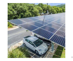Adjustable Solar Pole Ground Mounting System For Carport Or Parking Lot