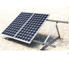 Adjustable Triangle Tripod Fixed Solar Panel Ground Mounting System With Cement Block Foundation