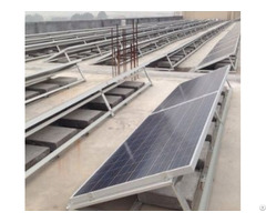 Ballasted Solar Mounting System With Concrete Base Or Ground Screw Foundation