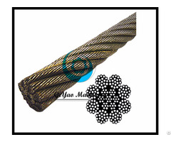 Bright Wire Rope Eips Iwrc 8x19 Rotation Spin Resistant