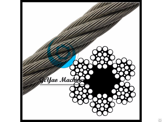 Bright Wire Rope Drill Line Fiber Core 6x21 Linear Foot