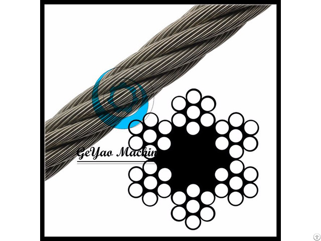 Bright Wire Rope Sand Line Fiber Core 6x7 Linear Foot