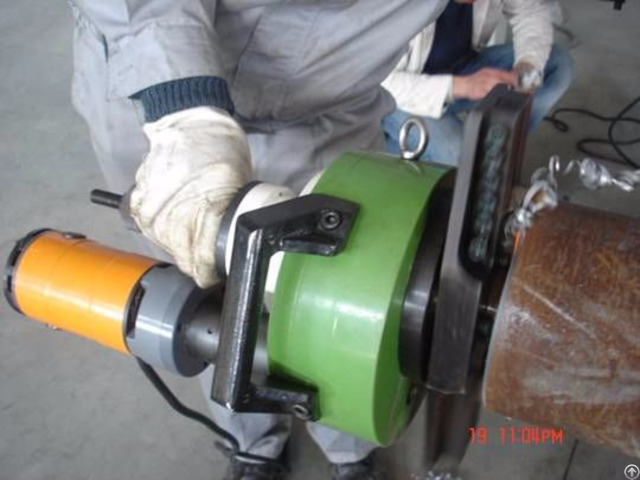 Pipe Prefabrication Internal Expansion Handheld Bevel Machine