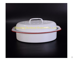 St R01 Cast Iron Enamel Roaster Pan