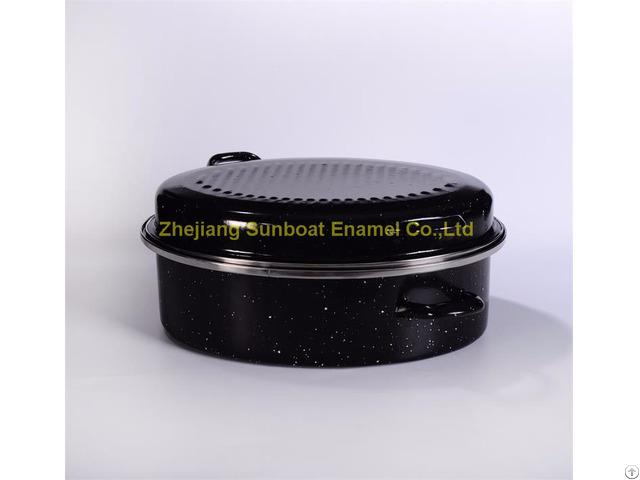 Large Capacity Enamel Roaster
