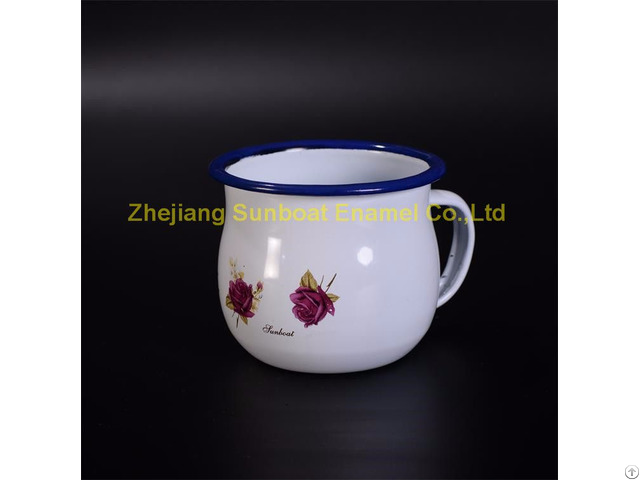 Enamel Milk Cup 8 8cm