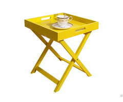 High Quality Portable Outdoor Square Wooden Quik Fold Coffee Table Wholesale