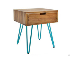 China Natural Edge End Twood Side Table Nightstand With Drawer Wholesale