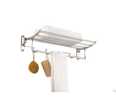 Hotel Modern Foldable Bathroom Wall Mounted Stainless Steel Towel Rack Rail Shelf
