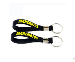 Branded Silicone Wristband Keychain With Multi Colors