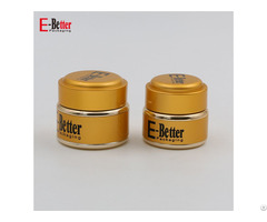 Gold Mini Glass Uv Gel Jar For Cosmetic Packaging