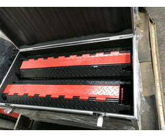 Poprealm Pu 2 Channels Cable Ramp For Outdoors Event