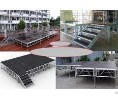 Portable Stage With Adjustable Height Leg For Outdoors Event