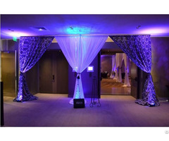 Beautiful Pipe Drape Use For Background Wedding Party Hotel