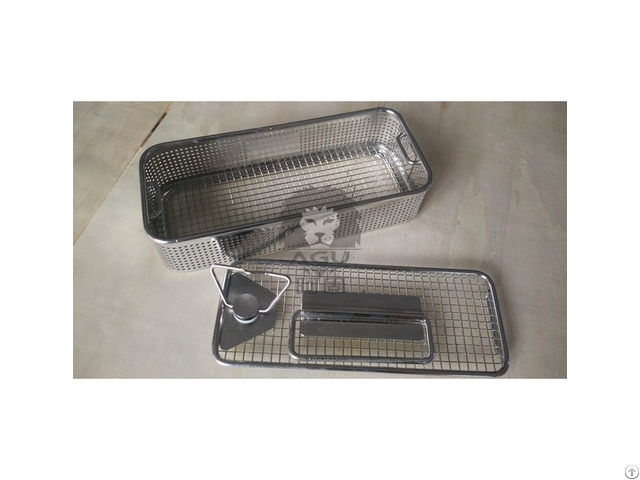 Sterilization Baskets Side Perforated Flat Base
