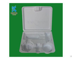 Popular Eco Friendly Nontoxic Material Protective Industrial Product Molded Pulp Packaging