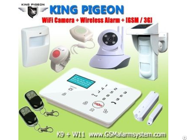 Wireless Gsm Sms Home Security Remote Control Alarm System K9