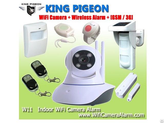 W11 Wifi Camera Home Alarm System With Wireless Sensors