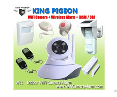 W11 Wifi Camera Home Alarm System With Wireless Sensors