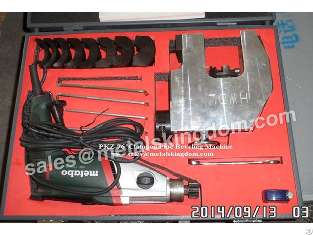 Portable Pkz 76 External Clamped Type Pipe Beveling Machine