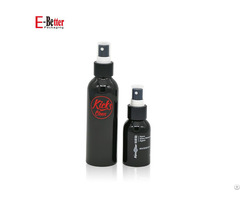 Matte Black Aluminum Spray Pump Bottle 50ml 100ml