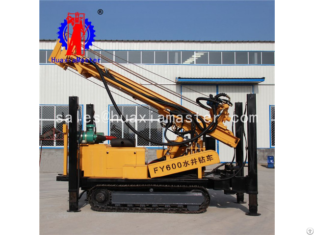 Fy600 Crawler Pneumatic Water Well Drilling Rig Machine Manufacturer For China