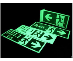 China Glow In The Dark Exit Signsmanufacture