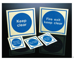 China High Quality Custom Best Glow In The Dark Mandatory Signs Manufacture