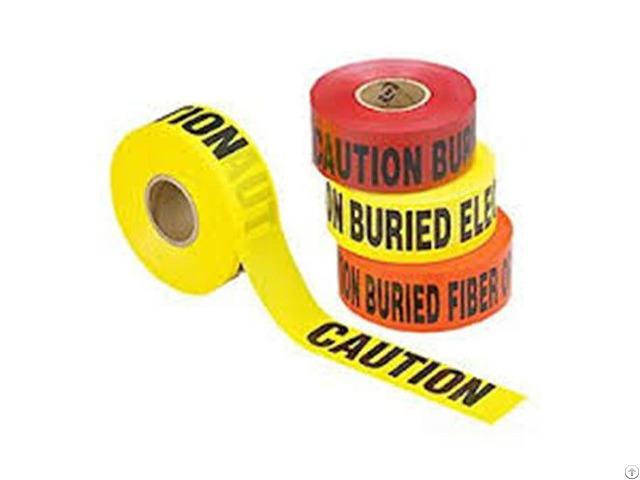 China Hot Sale Factory Price Custom Non Adhesive Pe Warning Tape