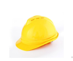 Pe Materials V Type Cheap Construction Comfortable Hard Hat For Workers