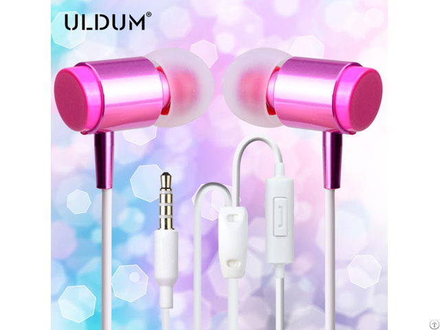 Uldum New Fashion Girl Lipstick Disposable Bus Classic Earphone For Mobile Phone Mp3 Media Player
