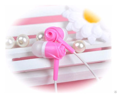 Uldum Noise Isolation Tone Rose Pattern Plastic Earpiece Earphone With Mic For Mp3 Music Player