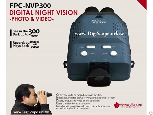 Multi Functional Digital Night Vision Scope For Professionals (fpc-nvp300)