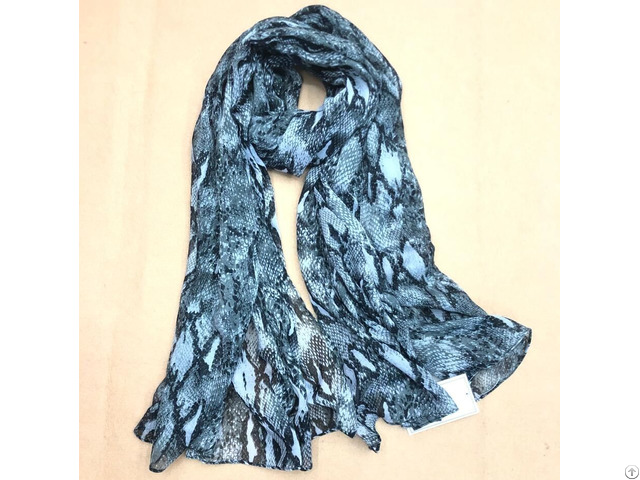 Fashion Snakeskin Printed Scarf
