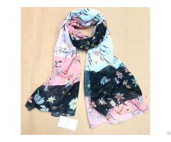 Chic Floral Printed Women Scarf