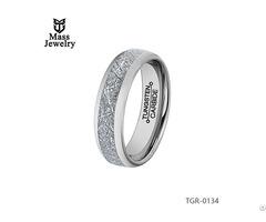 Jewelry Cheap Black 8mm Imitation Meteorolite Tungsten Carbide Wedding Ring For Inlay