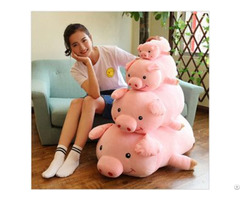 Product 2019 New Year Custom Size Adorable Wholesale Pink Plush Pigs Toys