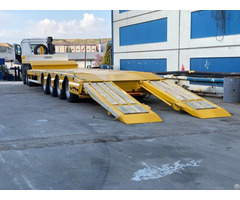 Ozdemirsan 4 Axle Lowbed Semi Trailer Yellow