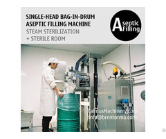 Sinlg Head 200 220 Litre Bulk Bags Filler Bag In Drum Aseptic Filling Equipment