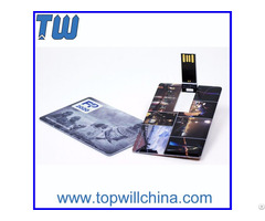 Full Color Printing Plastic Credit Card Pen Drive