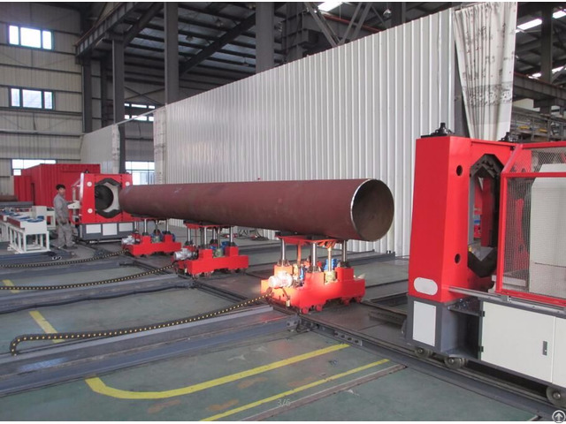 Pipe Prefabrication Double Screw Lateral Convey Trolley