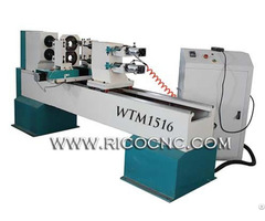 China 2 Axis Cnc Wood Lathe Machine Woodturning Router Wtm1516